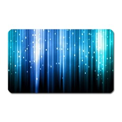 Blue Abstract Vectical Lines Magnet (rectangular)