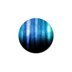 Blue Abstract Vectical Lines Golf Ball Marker (4 Pack)