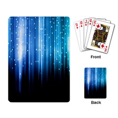 Blue Abstract Vectical Lines Playing Card