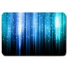 Blue Abstract Vectical Lines Large Doormat
