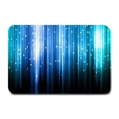Blue Abstract Vectical Lines Plate Mats