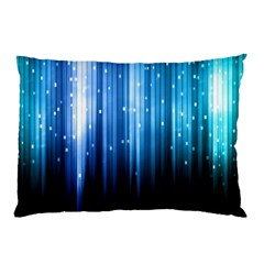 Blue Abstract Vectical Lines Pillow Case