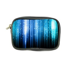 Blue Abstract Vectical Lines Coin Purse