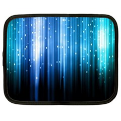 Blue Abstract Vectical Lines Netbook Case (xxl)