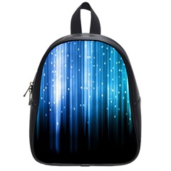 Blue Abstract Vectical Lines School Bags (small)