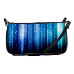 Blue Abstract Vectical Lines Shoulder Clutch Bags Front