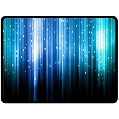 Blue Abstract Vectical Lines Fleece Blanket (large)