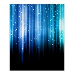 Blue Abstract Vectical Lines Shower Curtain 60  x 72  (Medium)