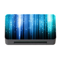 Blue Abstract Vectical Lines Memory Card Reader with CF