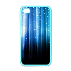 Blue Abstract Vectical Lines Apple Iphone 4 Case (color)