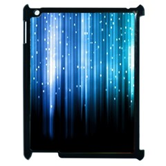 Blue Abstract Vectical Lines Apple Ipad 2 Case (black)