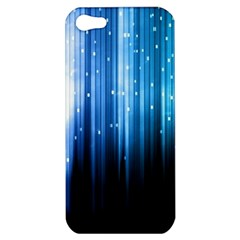 Blue Abstract Vectical Lines Apple Iphone 5 Hardshell Case