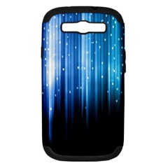 Blue Abstract Vectical Lines Samsung Galaxy S Iii Hardshell Case (pc+silicone)