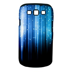Blue Abstract Vectical Lines Samsung Galaxy S Iii Classic Hardshell Case (pc+silicone)