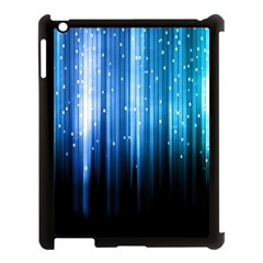 Blue Abstract Vectical Lines Apple Ipad 3/4 Case (black)