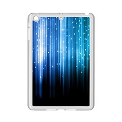 Blue Abstract Vectical Lines iPad Mini 2 Enamel Coated Cases