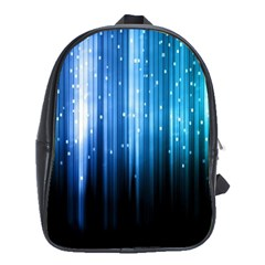 Blue Abstract Vectical Lines School Bags (xl)