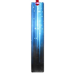 Blue Abstract Vectical Lines Large Book Marks