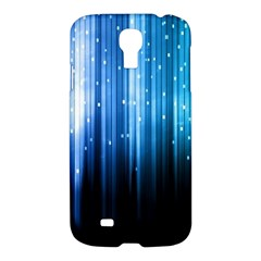 Blue Abstract Vectical Lines Samsung Galaxy S4 I9500/I9505 Hardshell Case