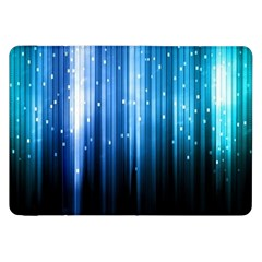 Blue Abstract Vectical Lines Samsung Galaxy Tab 8.9  P7300 Flip Case