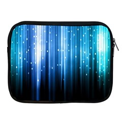 Blue Abstract Vectical Lines Apple iPad 2/3/4 Zipper Cases