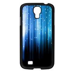 Blue Abstract Vectical Lines Samsung Galaxy S4 I9500/ I9505 Case (black)