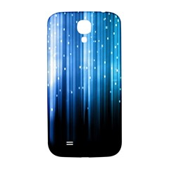 Blue Abstract Vectical Lines Samsung Galaxy S4 I9500/I9505  Hardshell Back Case