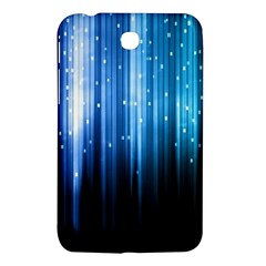 Blue Abstract Vectical Lines Samsung Galaxy Tab 3 (7 ) P3200 Hardshell Case