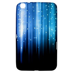 Blue Abstract Vectical Lines Samsung Galaxy Tab 3 (8 ) T3100 Hardshell Case
