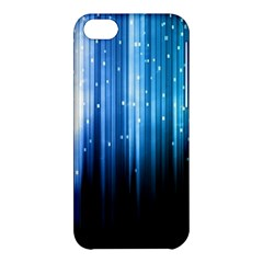 Blue Abstract Vectical Lines Apple Iphone 5c Hardshell Case