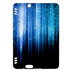 Blue Abstract Vectical Lines Kindle Fire Hdx Hardshell Case