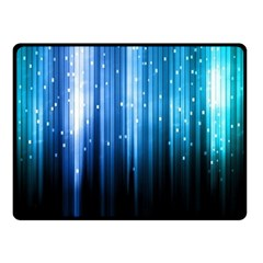 Blue Abstract Vectical Lines Double Sided Fleece Blanket (Small)