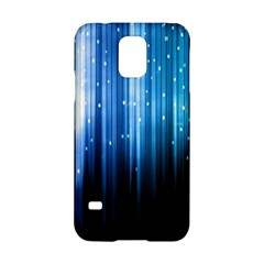 Blue Abstract Vectical Lines Samsung Galaxy S5 Hardshell Case
