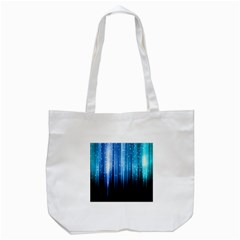 Blue Abstract Vectical Lines Tote Bag (White)