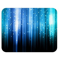 Blue Abstract Vectical Lines Double Sided Flano Blanket (Medium)