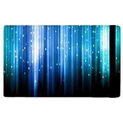 Blue Abstract Vectical Lines Apple Ipad Pro 9 7   Flip Case