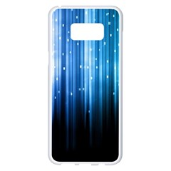 Blue Abstract Vectical Lines Samsung Galaxy S8 Plus White Seamless Case