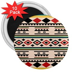 Tribal Pattern 3  Magnets (10 pack)