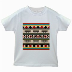 Tribal Pattern Kids White T-Shirts