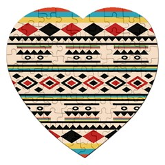 Tribal Pattern Jigsaw Puzzle (heart)