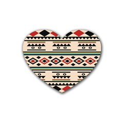 Tribal Pattern Heart Coaster (4 Pack)