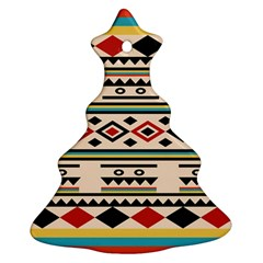 Tribal Pattern Christmas Tree Ornament (two Sides)
