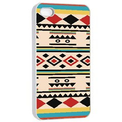 Tribal Pattern Apple Iphone 4/4s Seamless Case (white)