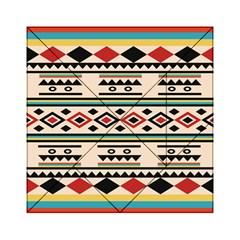 Tribal Pattern Acrylic Tangram Puzzle (6  x 6 )