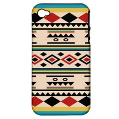 Tribal Pattern Apple iPhone 4/4S Hardshell Case (PC+Silicone)