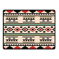 Tribal Pattern Double Sided Fleece Blanket (small)