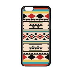Tribal Pattern Apple Iphone 6/6s Black Enamel Case