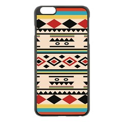 Tribal Pattern Apple Iphone 6 Plus/6s Plus Black Enamel Case