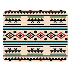Tribal Pattern Double Sided Flano Blanket (large)