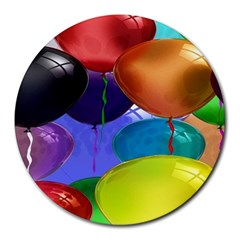 Colorful Balloons Render Round Mousepads